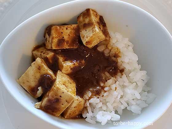 カルディの麻婆豆腐醤で作った麻婆豆腐丼