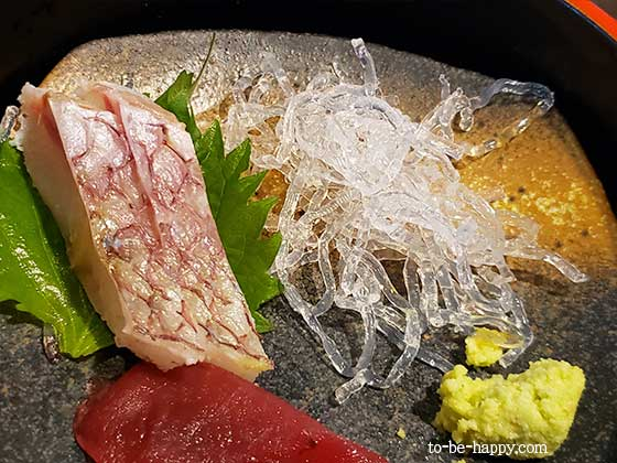 天然あなご料理専門店 玉ゐのランチの刺身