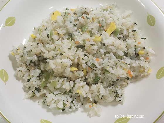 おうちコープの食材で時短弁当、時短料理する 野沢菜しらすごはん