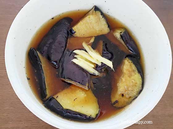 おうちコープの食材で時短料理 茄子の煮浸し