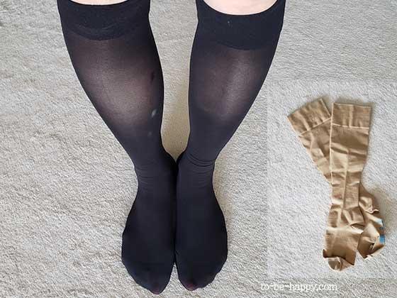 下肢静脈瘤のレーザー治療(手術)後の足